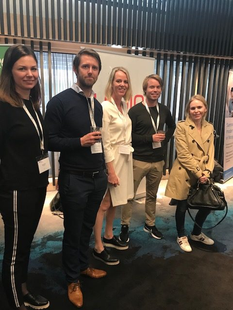 Anette Østby fra Medius, Kristian Korsvik fra Egde Consulting, Renate Rykkje Thoresen fra Logiq, Espen fra Akershus Fylkeskommune og Karianne fra Rogaland Fylkeskommune.