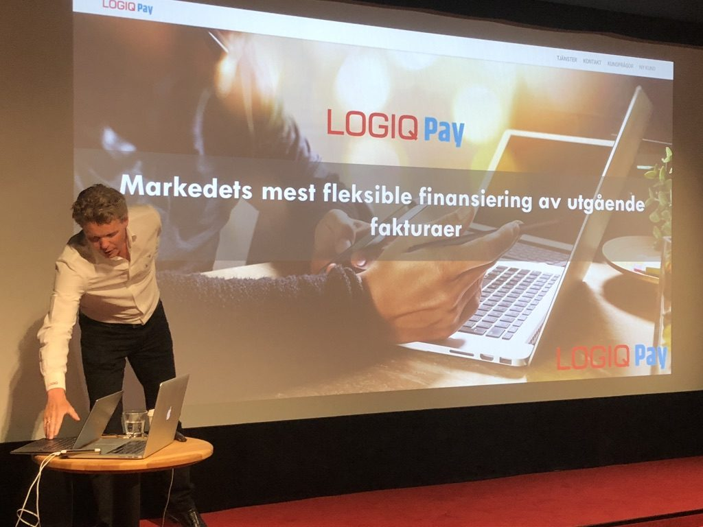 Anders Idebøen presenterer LogiqPay.