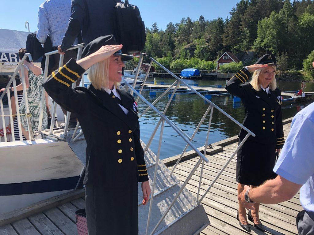 Renate Rykkje Thoresen og Trine Skogsberg fra Logiq ønsker velkommen ombord.